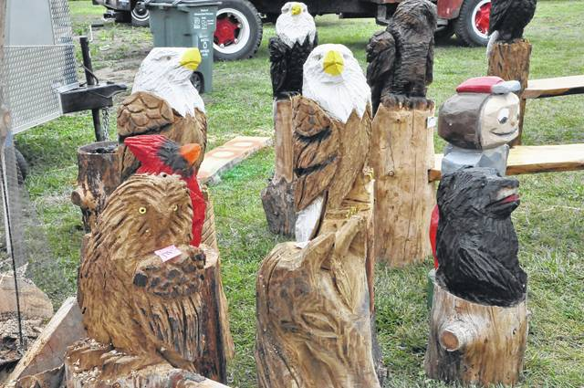 David Crego's carvings range from bears to eagles to Brutus Buckeye and everything in between. Crego said he also does commissions.