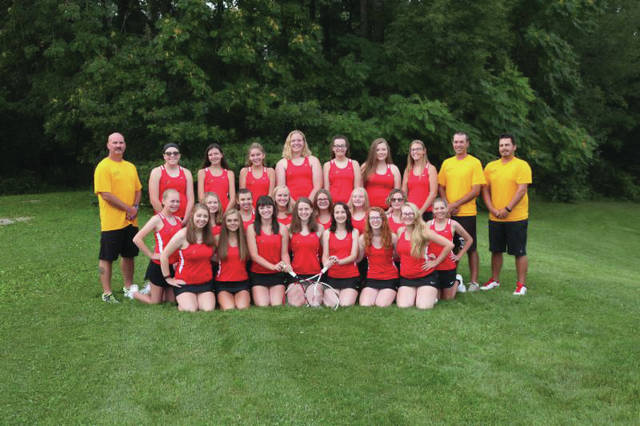 The Varsity Girls Tennis team.