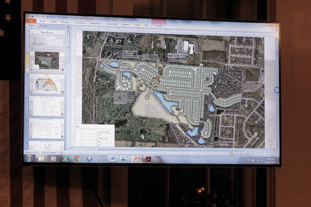 A drawing of the proposed Price Ponds subdivision was shown Nov. 27.