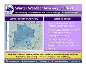 Winter Weather Advisory issued for Delaware County