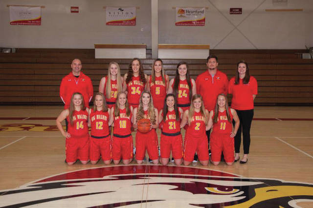 The BWHS Girls varsity basketball team.