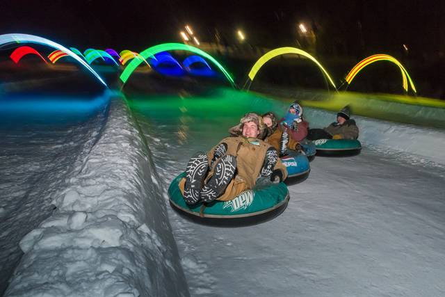 Glow Tubing at Snow Trails