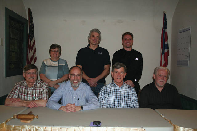 Galena's 2018 Council includes (front row l.-r.) David Simmons, Mayor Thomas Hopper, President David Walker, and Bob Molter; and (back row, l.-r.) Kathy Krupa, Chris Underwood, and Jason Hillyer.
