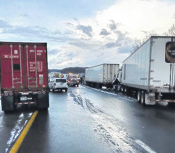 A massive pileup Tuesday afternoon on I-71 in Morrow County.