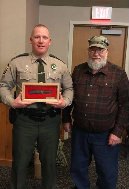 State Wildlife Officer Josh Shields and President of the Ohio Bow Hunter's Association, Doug Duhl.