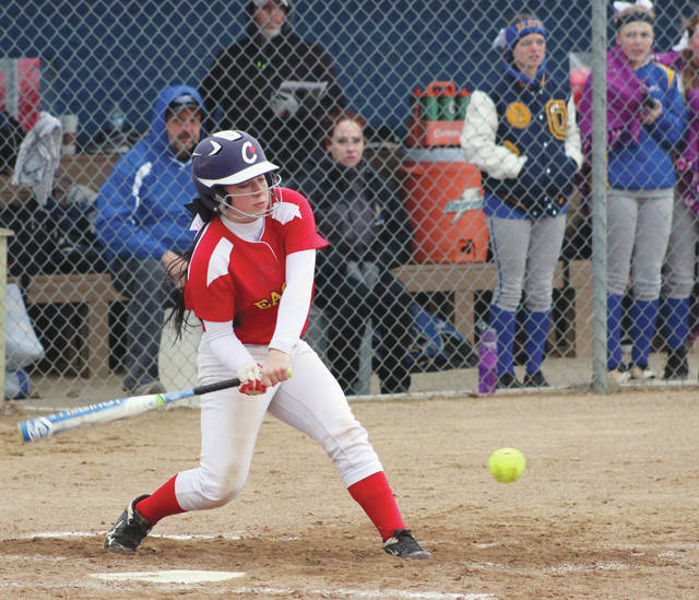 Big Walnut's Meredith Thomas takes a cut during Friday's (April 6) non-league showdown against host Olentangy.