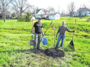 Tree planting at Prairie Creek