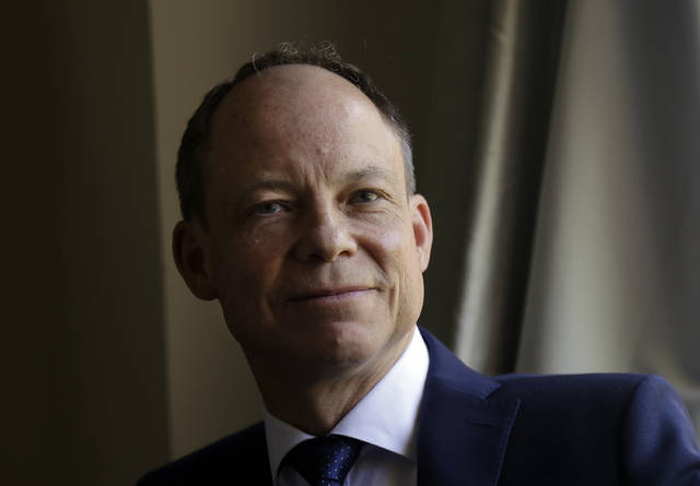 FILE - In this May 15, 2018 file photo, Judge Aaron Persky poses for photos in Los Altos Hills, Calif. Persky says he would handle the sexual assault case of former Stanford University swimmer Brock Turner the same way today as he did almost exactly two years ago, even though it's the reason why he is the target of a June 5 recall election in Santa Clara County. Persky sentenced Turner to six months in jail. (AP Photo/Jeff Chiu, File)