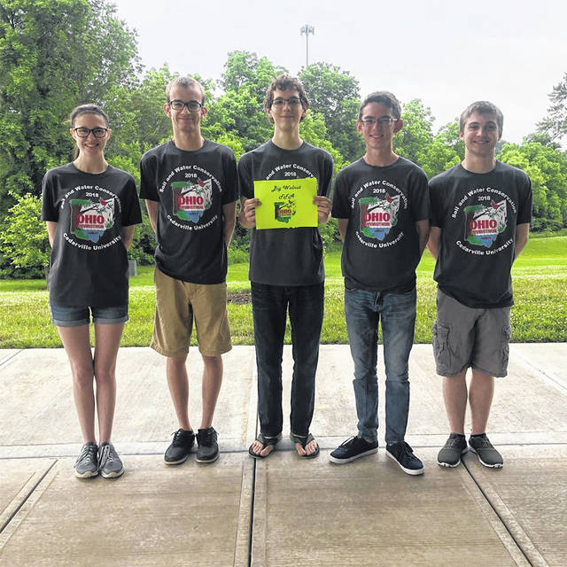 The FFA team of (left-to-right) Gabby Adair, Austin Cheadle, Ben Kessler, Lex Marvin, and Troy Herrel.