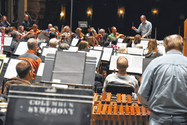 CSO Rehearsal for Russian Winter Festival.