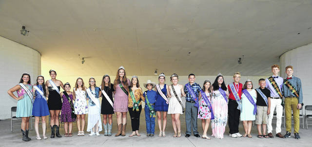 The Licking County 4-H Commodity and Species Royalty are some of the hardest working young folks on the fairgrounds during the Hartford Independent Fair.
